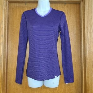 Patagonia Purple Striped Baselayer Shirt S
